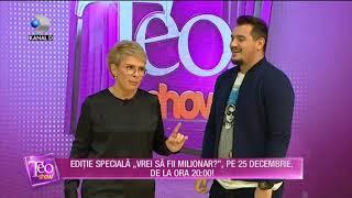 """Teo Show (21.12.2018) - Editie speciala """"Vrei sa fii milionar?"""", pe 25 decembrie de la ora 20:00!"""
