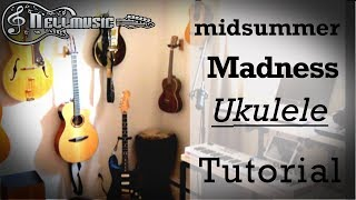 88RISING - Midsummer Madness Ukulele lesson (with TABS CHORDS)