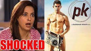 Juhi Chawla's SHOCKED reaction to Aamir Khan's 'Peekay' poster! | Bollywood News