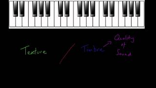 What is the difference between musical texture and timbre?