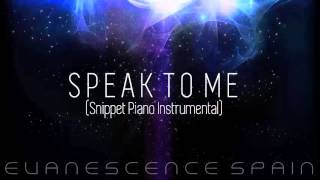 Amy Lee - Speak To Me (Snippet) (Piano Instrumental) [HD 720p]