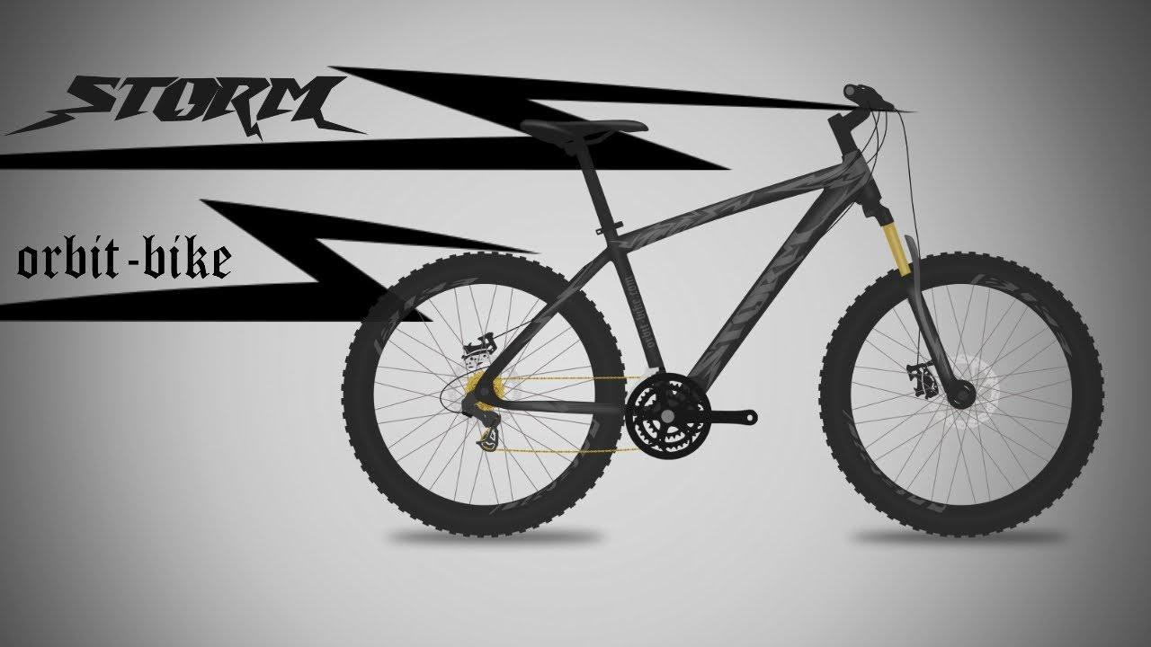 Black Storm Bicycle Design