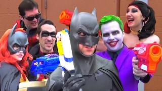 Batman Nerf War: The Movie! Featuring Joker, Harley Quinn, Robin, Batgirl & Nightwing