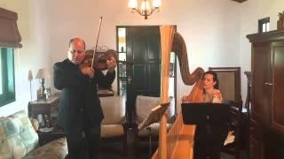 Hino 2 CCB - De Deus tu és eleita - Violino e Harpa - Claudio Cruz e Suelem Sampaio