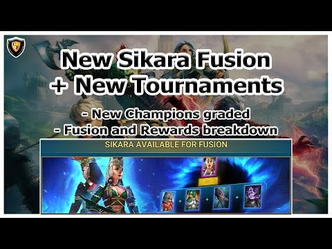 RAID Shadow Legends | Sikara Fusion + New Tournaments | New Champions Graded