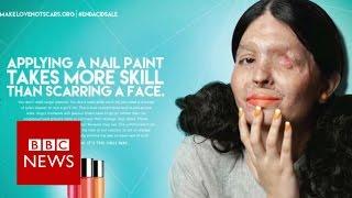 Acid attack survivor to model in NY - BBC News