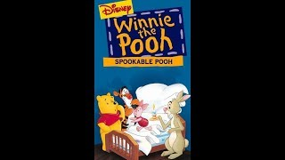 Opening to Winnie the Pooh - Spookable Fun 1996 VHS (Demo Tape)