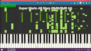 Super Mario Game Over sounds in Synthesia