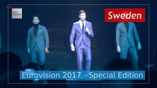 I Can't Go On - Sweden (Eurovision 2017 - multicam rehearsals from 4 angles) - Robin Bengtsson