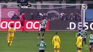 Goal | Golo Bas Dost: Sporting (4)-2 Nacional (Liga 18/19 #13)