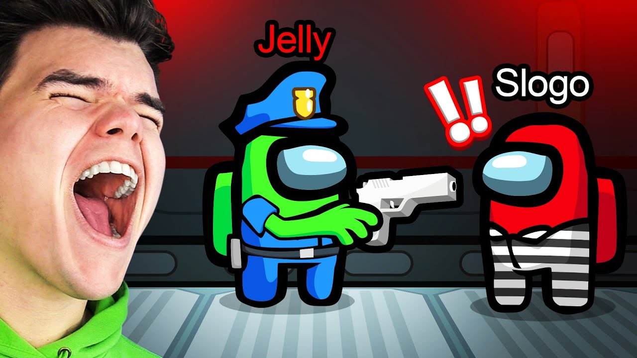 Jelly - PLAYING COPS vs. ROBBERS In AMONG US! (NEW Gamemode)