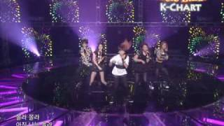[K-Chart] 11 [▲1] NU ABO - f(x) (2010.6.18 / Music Bank Live)