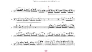Flight of the Bumblebee, Arr. for Cello (144 BPM)