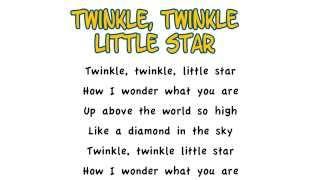 Twinkle Twinkle Little Star - Lyrics, Play-Along, Instrumental, Playback, Karaoke