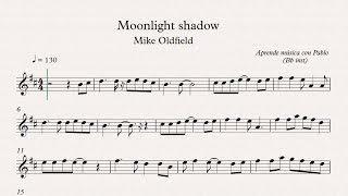 MOONLIGHT SHADOW:  Bb inst (clarinete,trompeta,saxo sop/tenor)(partitura con playback)