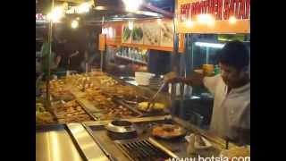 satay  barbecue fried Lok Lok in luala lumpur malaysia ลกลก อาหารมาเลเซีย