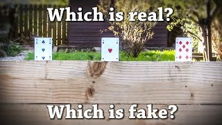 Fun Test: Which is Real? Playing Card Drawing Challenge!