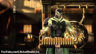 Mortal Kombat 9 Test Your Might Failure **Failure On All Challenges** (HD)