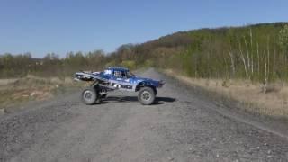 Trophy truck jump