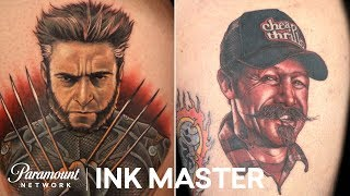 Top 6 Portrait Tattoos: From Wolverine to Oliver Peck | Ink Master