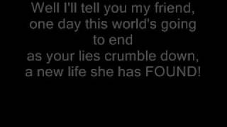 Red Jumpsuit Apparatus - Face Down (Lyrics)