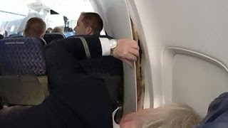 Raw: Plane's Cabin Walls Crack Mid-flight