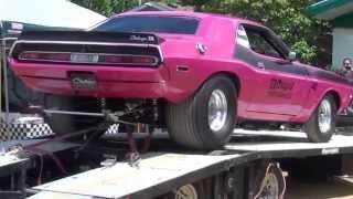 1970 Dodge Challenger drag car on the dyno