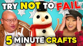 5 Minute Holiday Craft Challenge   Try Not To Fail