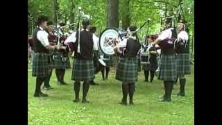 Awesome Bagpipe and Drum Band at the 2012 Highland Games