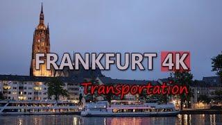 Ultra HD 4K Frankfurt Travel Vehicles Tourism City Transportation Tram Train UHD Video Stock Footage