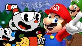 Mario y Luigi vs Cuphead y Mugman - Batalla de rap | LIGA DE LAS BATALLAS | RTX FT. KAI & Bendercat
