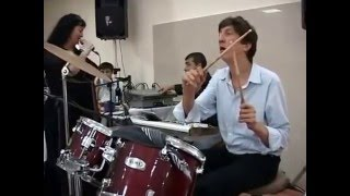 Дагестанский барабанщик Шабан Абдулаев