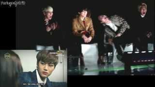 131114 EXO drama VCR @ Melon Awards 2013 - SHINee reaction (SPLIT SCREEN) width=