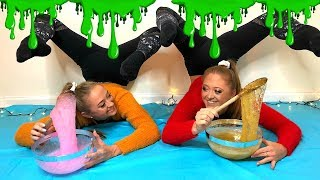 ACRO Gymnastics SLIME CHALLENGE!! | The Rybka Twins