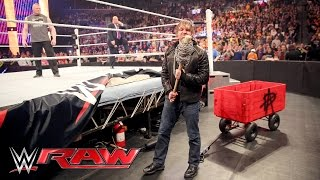 Dean Ambrose interrupts Brock Lesnar & Paul Heyman to pick some 'Mania essentials: Raw, Mar 28, 2016
