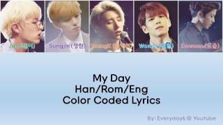 Day6 - My Day [Color coded | Eng Subbed | Han | Rom]