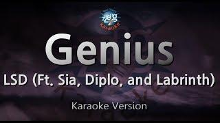 LSD-Genius (Ft. Sia, Diplo, and Labrinth) (Melody) (Karaoke Version) [ZZang KARAOKE]