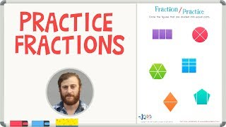 Practice Fractions - Math for 1st Grade