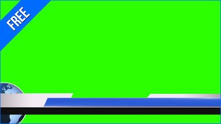 Barras de Jornal #1 - News Lower Thirds #1 / Green Screen - Chroma Key