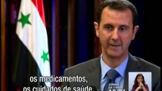 Assad fala à RTP dos dias de drama na Síria