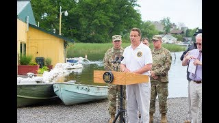 Cuomo bashes IJC at Sodus Point after Lake Ontario floods