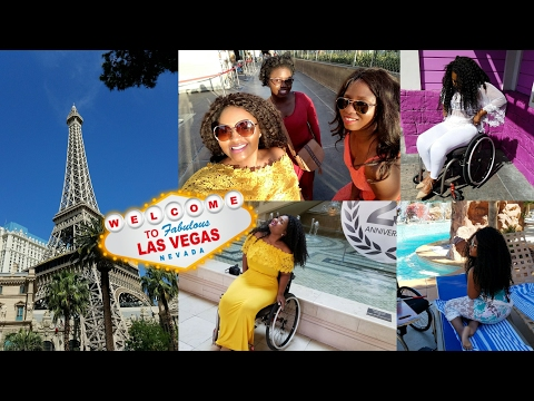 TRAVELING AS A WHEELCHAIR USER - Las Vegas | Vlog #10 | TheDIYLady