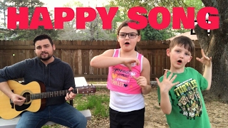 HAPPY SONG | CHRIS TOMLIN (cover) | Daddy and Kids