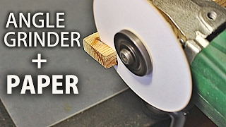 Cutting with an Angle Grinder and Paper (Plasterboard, plastic, wood)