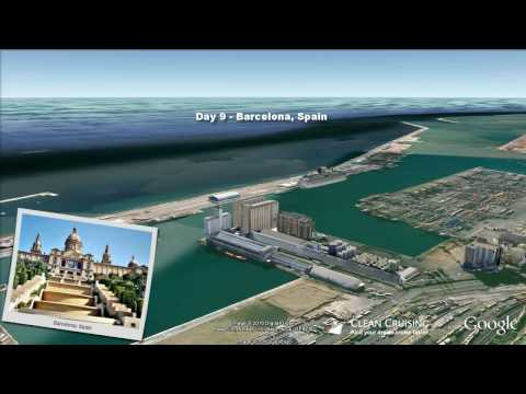 "Costa Concordia video ""8 nt Spain Morocco Italy Cruise"" ex Barcelona"