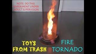 FIRE TORNADO | ENGLISH | High spinning flame!