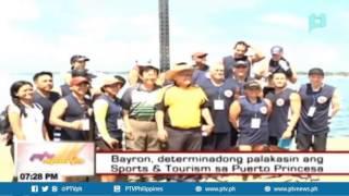Bayron, determinadong palakasin ang Sports & Tourism sa Puerto Princesa