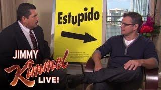 Guillermo Crashes Matt Damon Interview