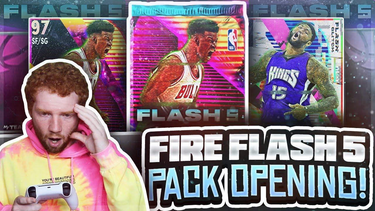 KILLZAMOI - Fire *FLASH 5* PROMO Pack OPENING!! First PULLABLE Galaxy OPAL! (NBA 2K21 MyTeam)
