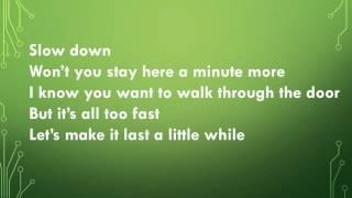 Slow Down (Lyric Video) - by: Nichole Nordeman